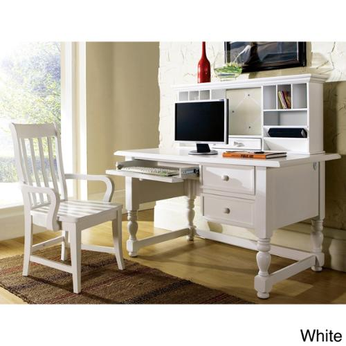 Greyson Living Brennan 3-piece Desk Set Brennan White Desk, Hutch, and Arm Chair