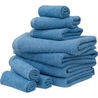 Mainstays Value Terry Cotton 10 Piece Bath Towel Set Collection