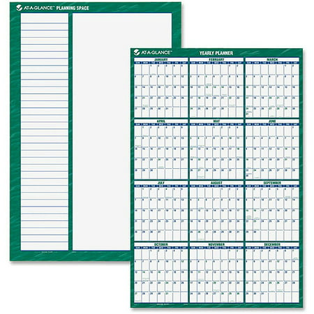 AT-A-GLANCE Erasable Vertical Wall Planner Linear Wall Planner