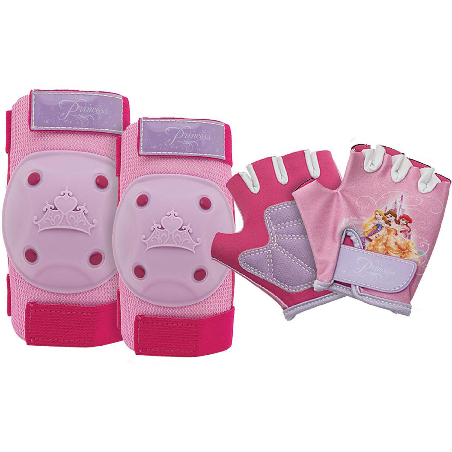 Bell Sports 7030643 Princess Pad and Glove Set, Pink