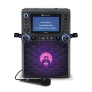 "Singing Machine STVG885BK Bluetooth Karaoke System with 7"" Color Monitor, CG+G, and a Microphone, Black"