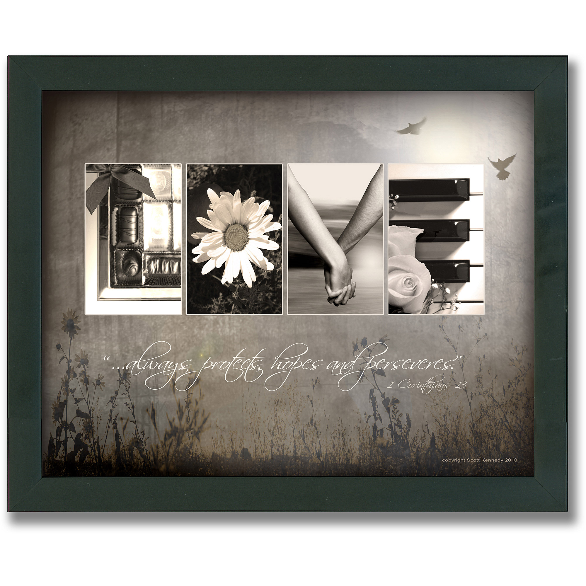 personal-prints love letters framed canvas wall art - walmart.com