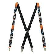 Buckle Down  Elastic Solar System Print Clip-End Suspenders (Men's)