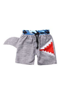 XIAXAIXU Kids Baby Boys Swimming Trunks Swim Shorts 3D Shark Ages 1 2 3 4 5 6 7Years