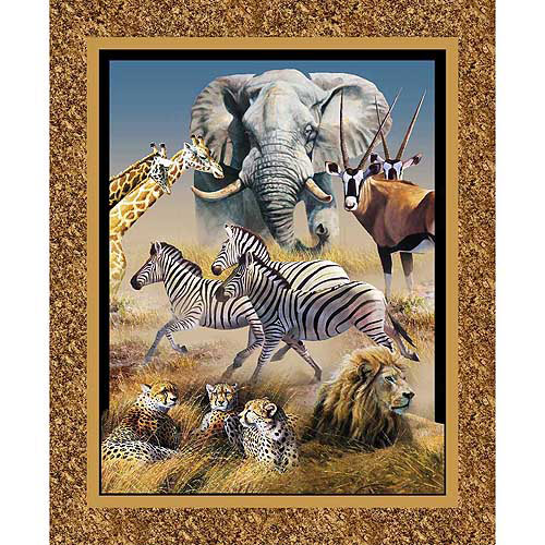 Springs Creative Wild Wings Kenyan Plains Wall Panel Fabric by the Yard