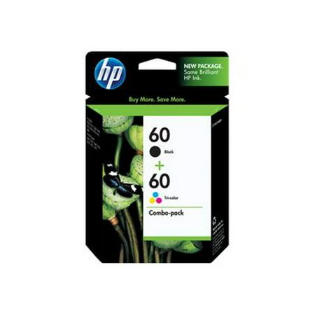 HP 60 Tri-color & Black Original Ink, 2 Cartridges (N9H63FN)