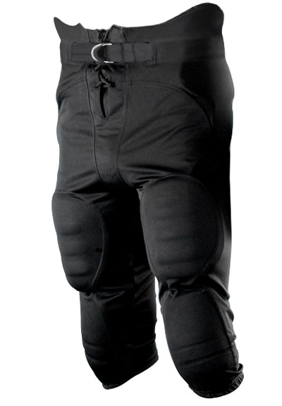 Youth Solo Polyester Football Pants, Black by Alleson Athletic