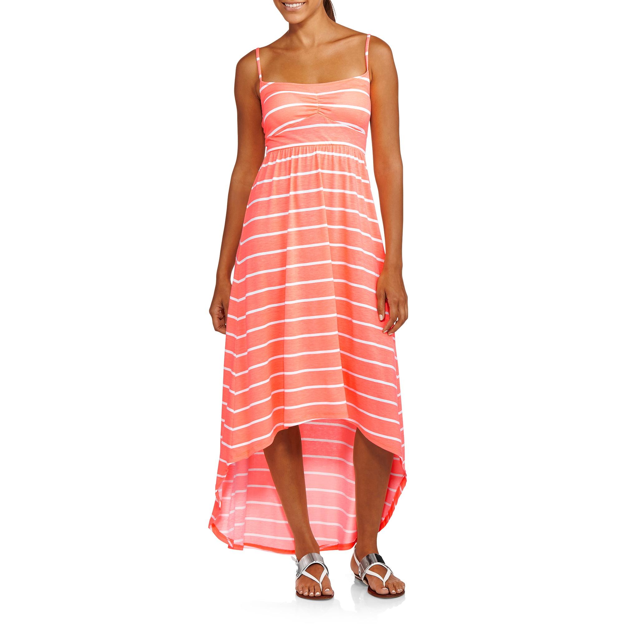No Boundaries Juniors Smocked Hi Lo Maxi Dress