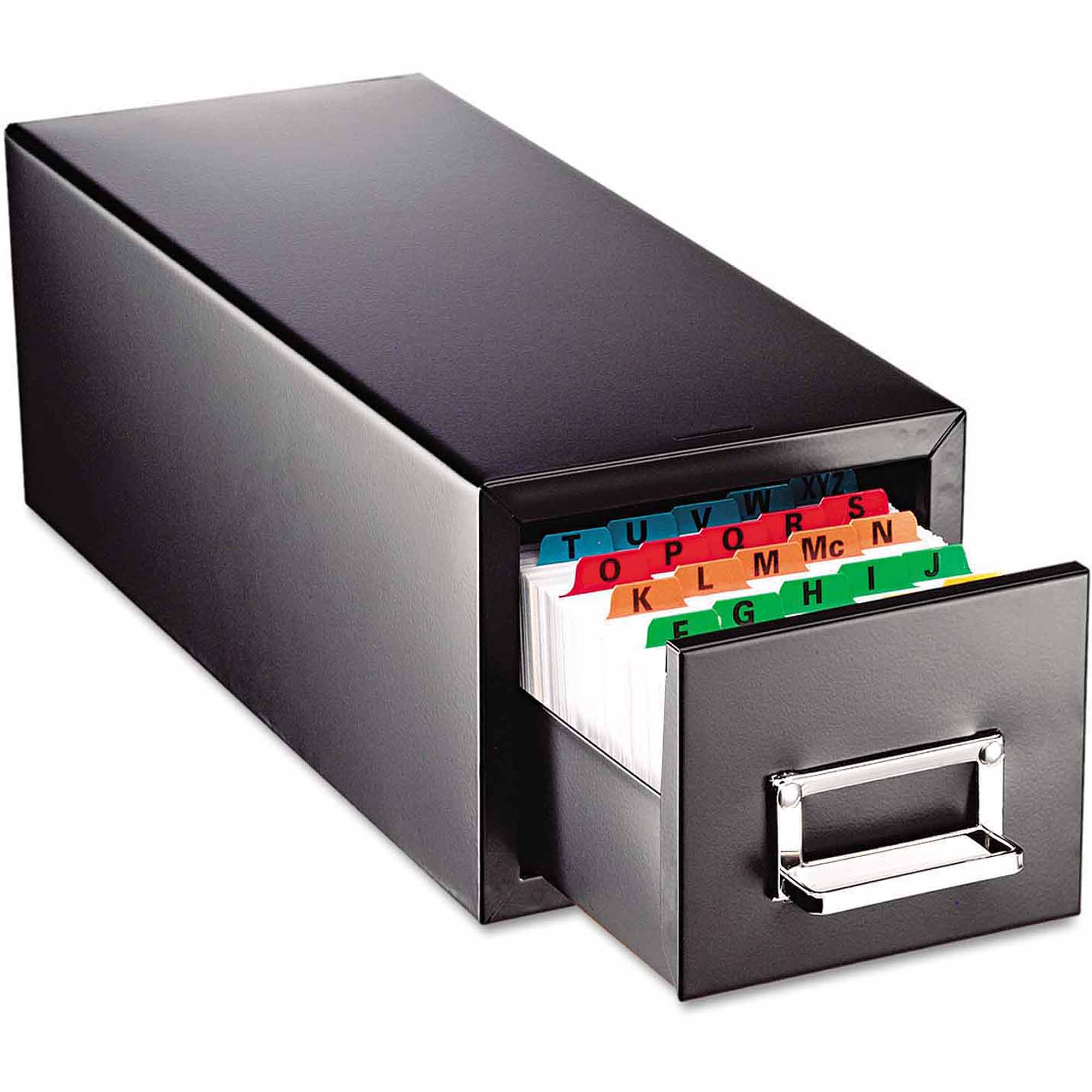 "SteelMaster Drawer Card Cabinet, Holds 1,500 4"" x 6"" cards"