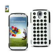 Samsung Galaxy S4 Hybrid Suction Dot Holes Case In Black White