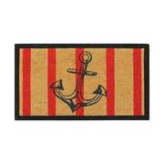 """First Impression Anchor Stripe Doormat 18"""" X 30"""""""