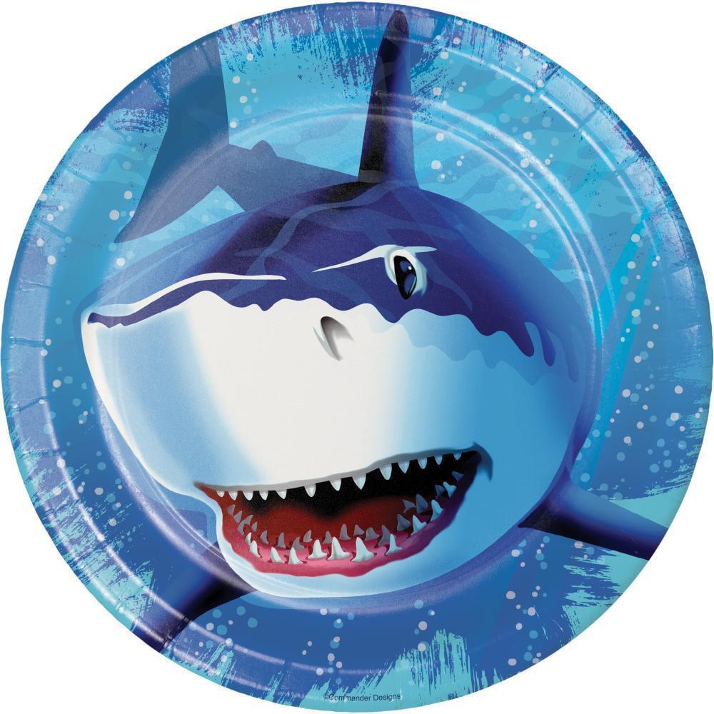 Creative Converting Shark Splash Paper Plates, 8 ct