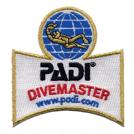 Divemaster Shoulder Patch, By Padi