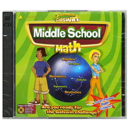 Galswin Middle School Math [CD-ROM] Windows 98 / W