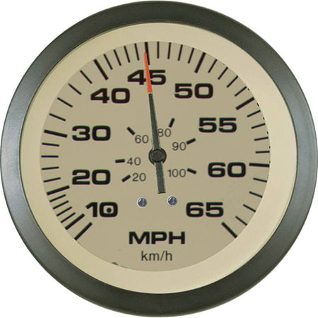 "Sierra Sahara Series 3"" Black & Tan Pitot Type Speedometer Gauge Kit with ""G"" Sender Code"