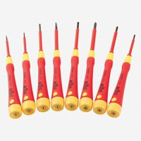 Wiha 32088 Insulated Precision Slotted and Phillips Screwdriver Set, 8 Pieces