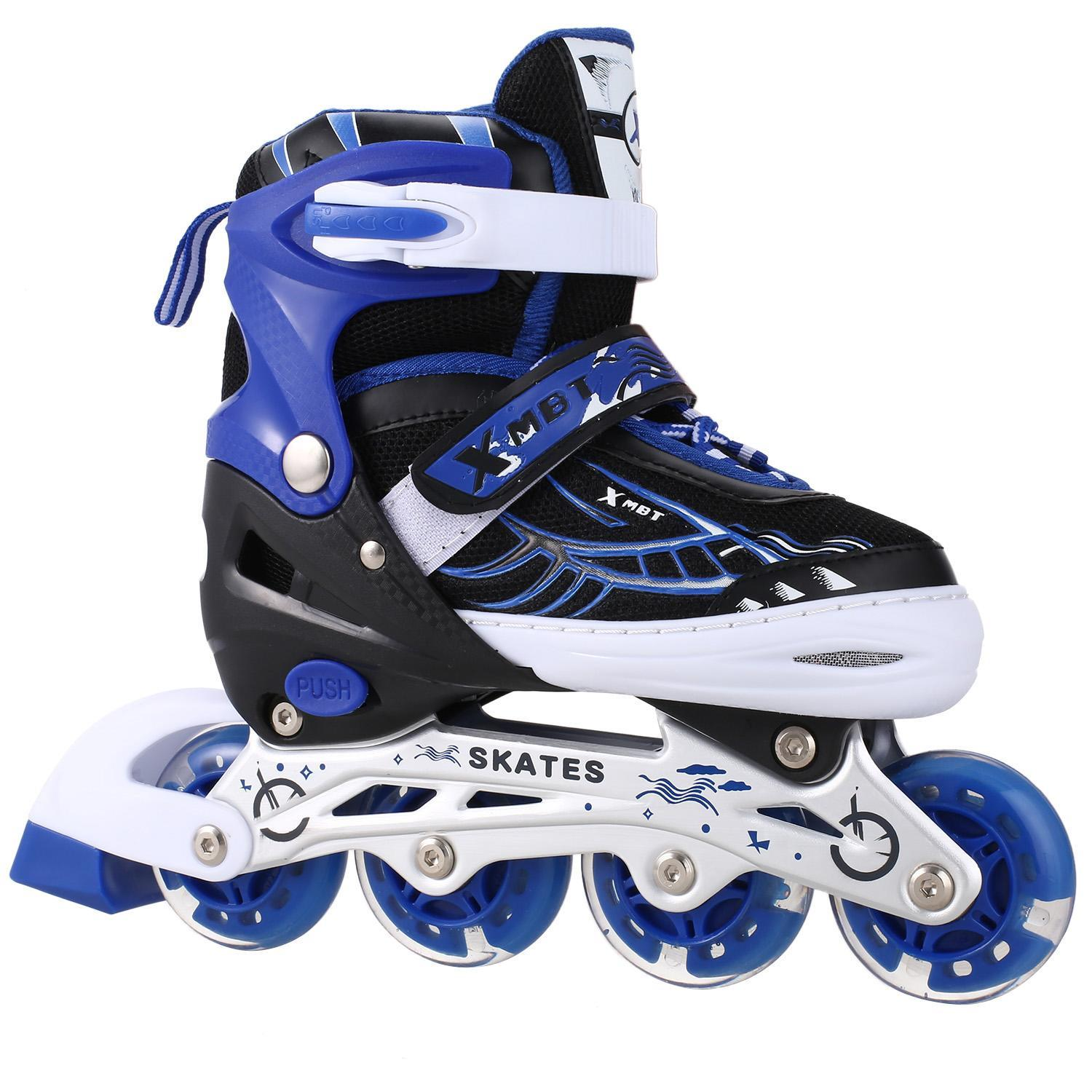 Adjustable Inline Skates, Featuring Light Up LED Wheels, Fun Flashing Rollerblades for Boys  girls Kids and Youth
