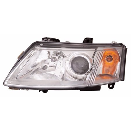 Go-Parts » 2003 - 2007 Saab 9-3 Front Headlight Headlamp Assembly Front Housing / Lens / Cover - Left (Driver) Side - (4 Door; Sedan) 12 799 348 SB2502109 Replacement For Saab 9-3