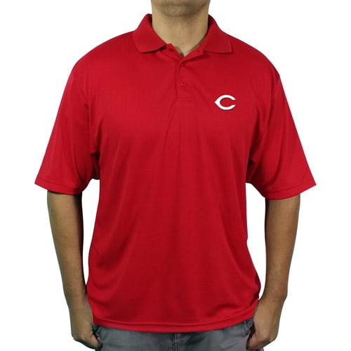 MLB Cincinnati Reds Big Men's poly polo shirt