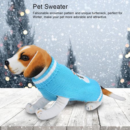 zerone 1pc pet winter warm clothes christmas blue snowman sweater for large dogspet winter clothes pet christmas sweater gift walmartcom - Large Dog Christmas Sweaters