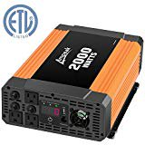 Ampeak 2000W Power Inverter Three AC Outlets 12V DC to 110V AC Car Inverter with USB
