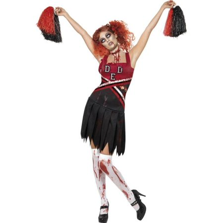 Adult Zombie Cheerleader Smiffys 32902 - Adult Cheerleader