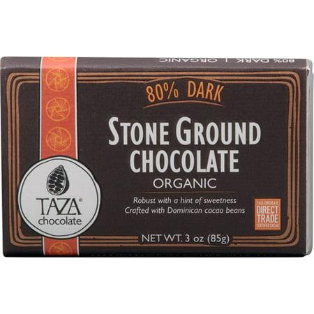 Organic Drinking Chocolate - Taza Chocolate Organic Stone Ground Chocolate 80% Dark 3 oz