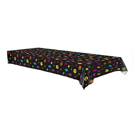 Plastic Tablecover 80s Video game Party Buffet Retro Tablecloth](80s Party Food)