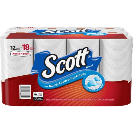 Scott Choose A Sheet Mega Roll Paper Towels 102 Sheets