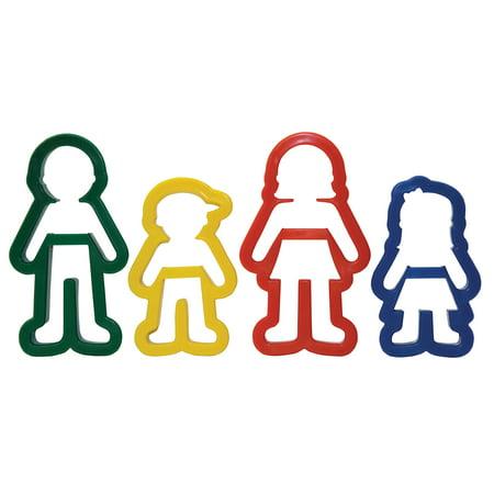 Creativity Street Family Dough Cutter Set, Plastic, Assorted Colors, Set of 4