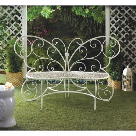 Wondrous Home Locomotion White Butterfly Garden Bench Pdpeps Interior Chair Design Pdpepsorg