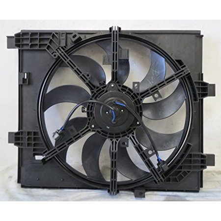 Dual Radiator and Condenser Fan Assembly - Pacific Best Inc For/Fit NI3115144 11-14 Nissan Juke With Fan Control