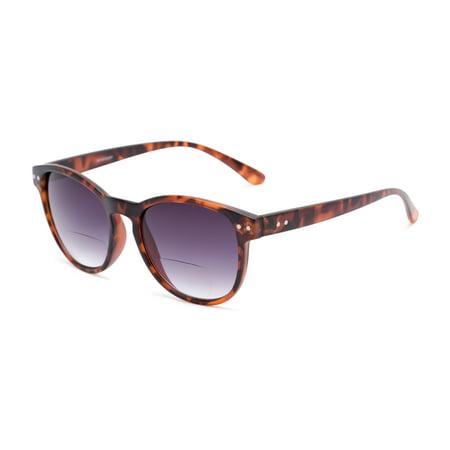 Readers.com® Reading Glasses: The Vale Bifocal Reading Sunglasses Reader, Plastic Round Frame