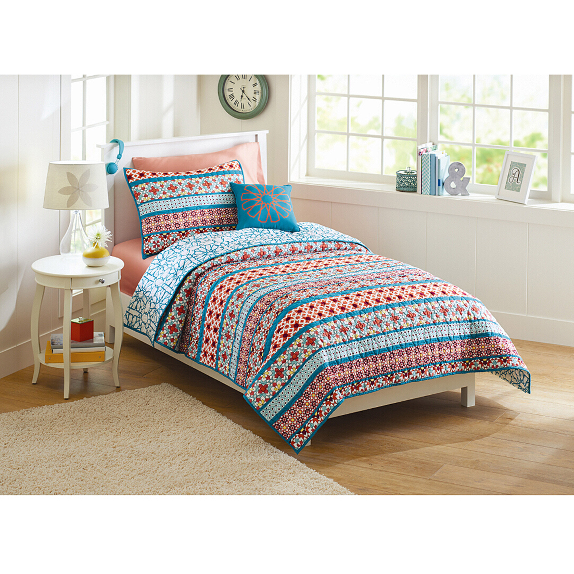 Better Homes and Gardens Turkish Medallion Quilt Bedding Set