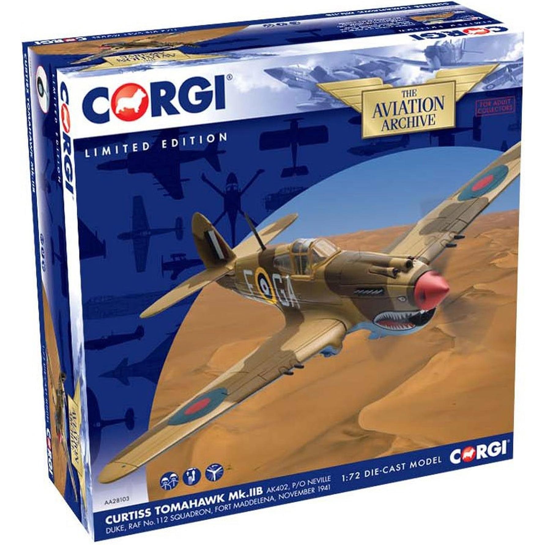 Corgi Curtiss Tomahawk IIB, AK402, P/O Neville Duke, RAF No.112 Squadron