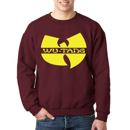 10 Ounce Crewneck Sweatshirt - New Way 175 - Crewneck Wu-Tang Clan Logo Hip Hop Rap Group Sweatshirt