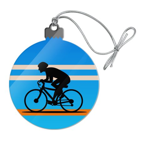 Road Bike Cycling Biking Bicycle Acrylic Christmas Tree Holiday Ornament