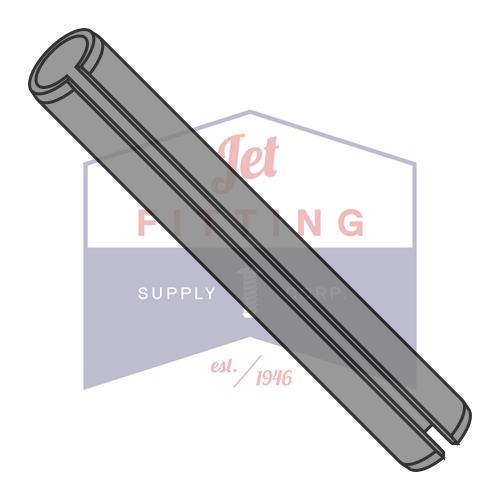 M6 x 10mm Roll (Spring) Pins | Slotted Type | Metric ISO 8752 | Carbon Steel | Thermal Black Oxide (Quantity: 5000)