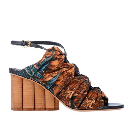 Salvatore Ferragamo Ladies Detailed Runway Sandal
