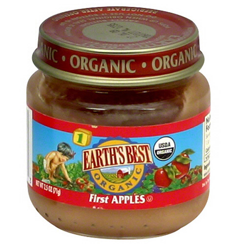 Earth's Best: Organic First Apples, 2.5 Oz