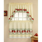 CHF & You Red Delicious Kitchen Curtains, Set of 2