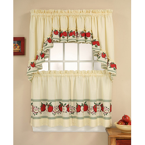 CHF U0026 You Red Delicious Tier Curtain Panel Set