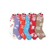 Mamia 6 Pairs Womens Cozy Slipper Socks Fuzzy Sock Multi Color