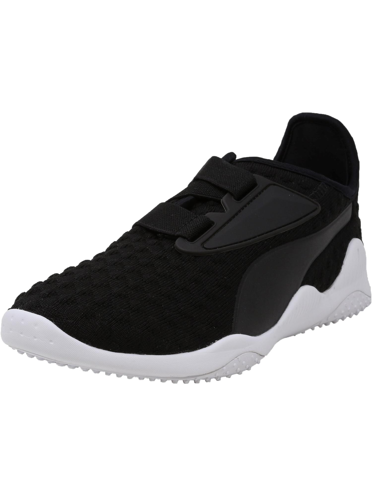 Puma Men's Mostro Bubble Knit Black / White Ankle-High Running Shoe - 12M