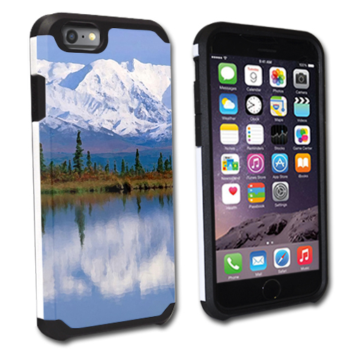 """MightySkins Protective Bumper Case Cover for Apple iPhone 6/6S 4.7"""" hybrid tpu rubber plastic Mountains"""