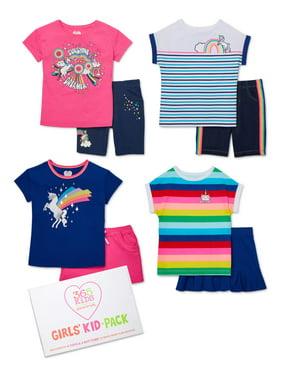 365 Kids from Garanimals Girls 4-10 Mix & Match Kid-Pack Gift Box, 8-Piece Outfit Set