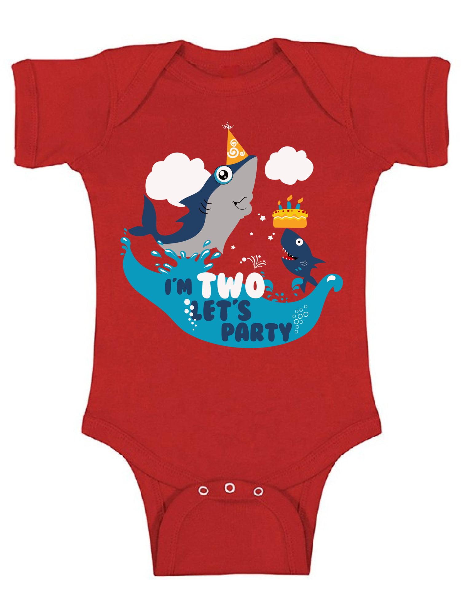 f18be8df1 Awkward Styles Shark Birthday Bodysuit Short Sleeve for Newborn Baby Shark  Birthday Gifts for 2 Year Old Cute One Piece Shark Outfit 2nd Birthday  Bodysuit ...