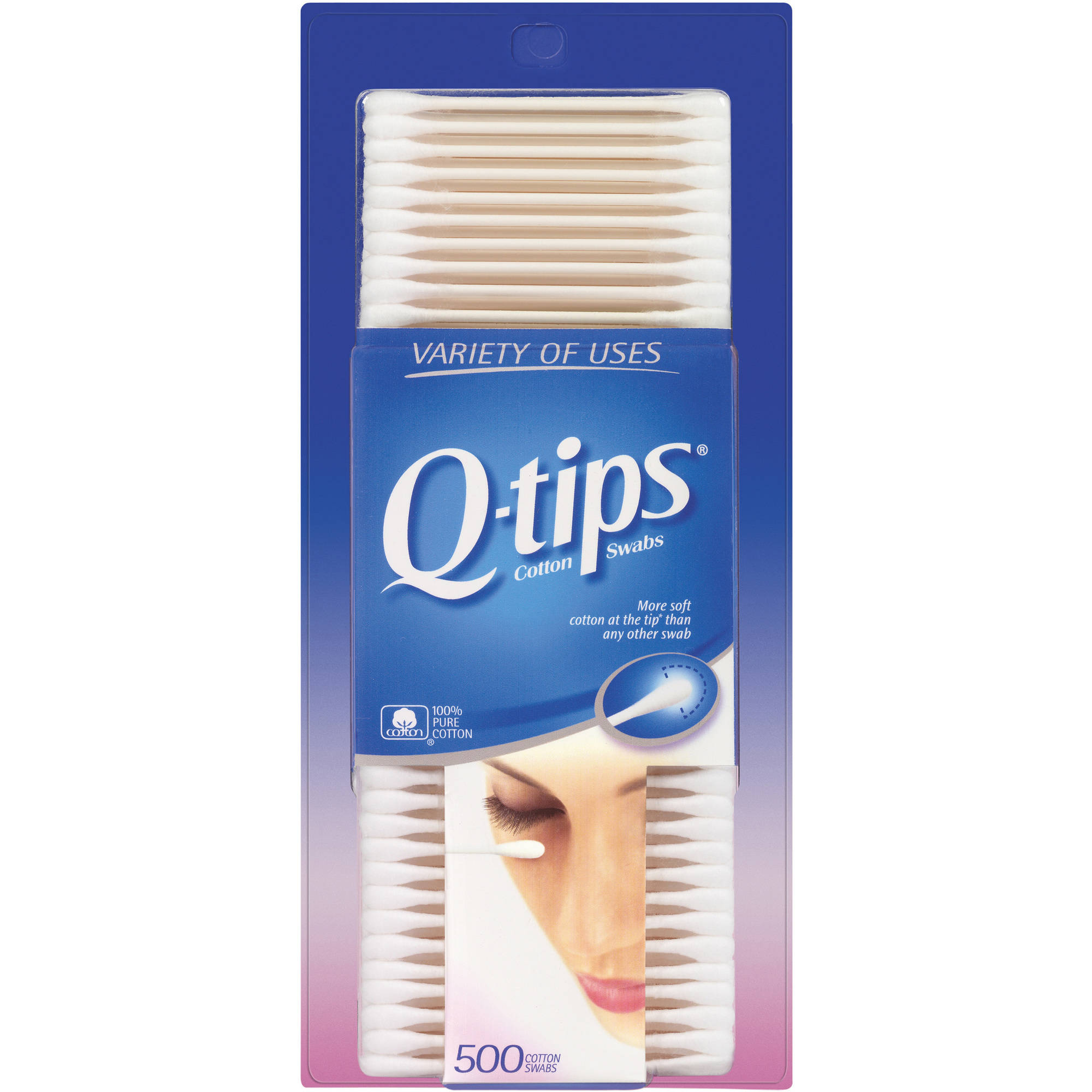 Q-tips Cotton Swabs, 500 count