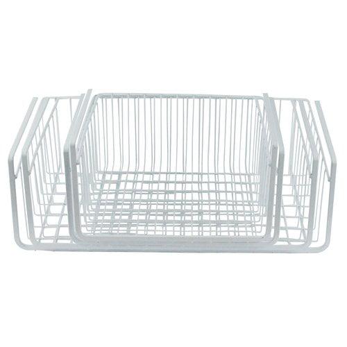 white wire under shelf storage basket 4 piece set. Black Bedroom Furniture Sets. Home Design Ideas
