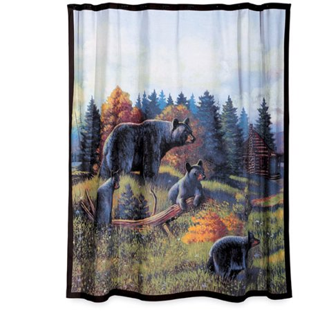 Blonder Home Black Bear Lodge Shower Curtain - Walmart.com